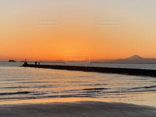 幕張の浜にての写真・画像素材[3907458]