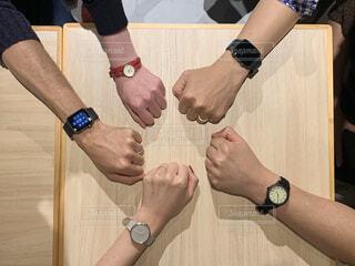 みんなの腕時計の写真・画像素材[3790443]