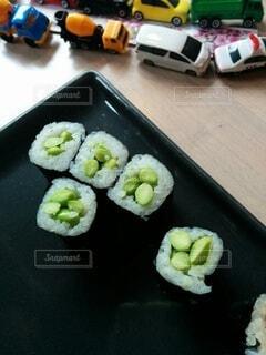 海外の枝豆お寿司の写真・画像素材[3776370]