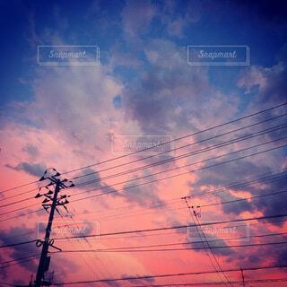 町の夕暮れの写真・画像素材[3782772]