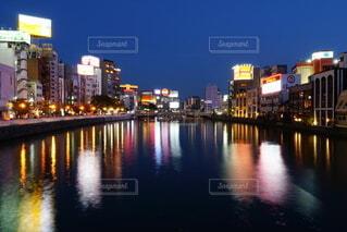 福岡 中洲夜景の写真・画像素材[3823062]