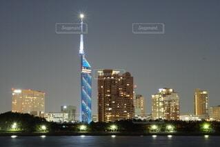 福岡市夜景の写真・画像素材[3876262]