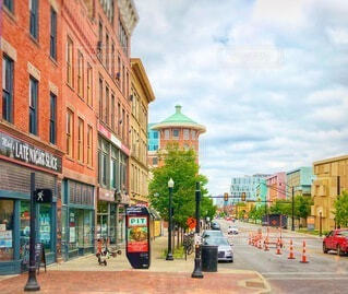 オハイオ州コロンバス街並みの写真・画像素材[3805035]