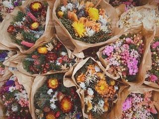 ドライフラワーの花束 ブーケ お花の写真・画像素材[3810599]