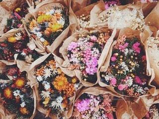 ドライフラワーの花束 ブーケ お花の写真・画像素材[3810598]