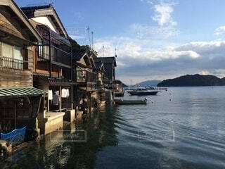 舟宿とソラの写真・画像素材[3810635]