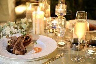 美味しいワインとお料理の写真・画像素材[3818563]