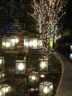 ららぽーと平塚のライトアップの写真・画像素材[3860000]