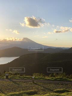 大観山駐車からは富士山と芦ノ湖を一望の写真・画像素材[3866614]