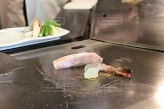 箱根湯本にあるステーキハウス吉池で海鮮鉄板焼きランチの写真・画像素材[3866872]