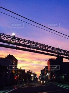 街の夕暮れの写真・画像素材[3831180]