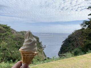 ソフトクリームの写真・画像素材[3837608]