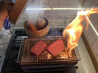自炊 ステーキの写真・画像素材[3850503]