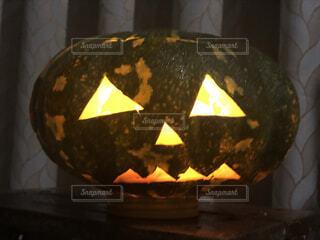 かぼちゃ ランタンの写真・画像素材[3835609]