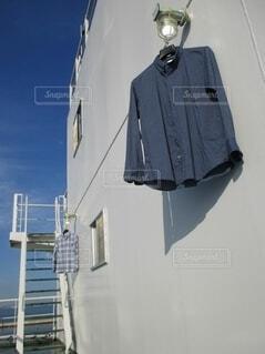 船上での洗濯干しの写真・画像素材[4391044]