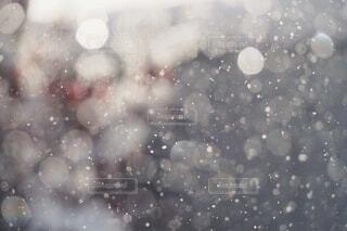 窓越しの雪と光の写真・画像素材[3853365]