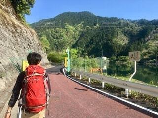 棒ノ折山 登山 有馬ダムの写真・画像素材[3841873]