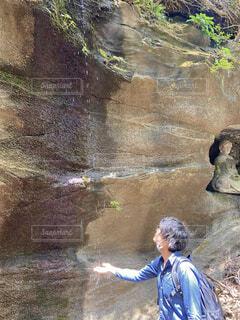 鋸山 神社参拝の写真・画像素材[4386818]