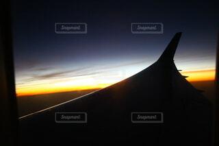 夕陽に染まるの写真・画像素材[3843853]