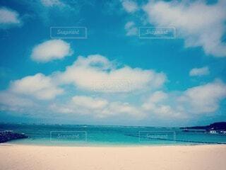 海が青い!!!の写真・画像素材[3855568]
