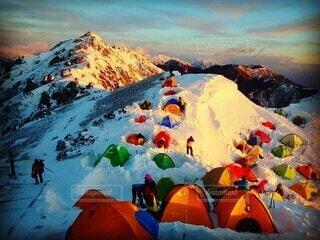燕岳からの眺めの写真・画像素材[3855837]