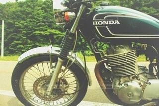 バイクでどこまでもの写真・画像素材[3949696]
