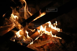 焚き火の写真・画像素材[3846368]