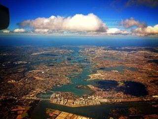 シドニーの上空の写真・画像素材[3846374]