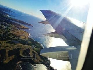 飛行機からの景色の写真・画像素材[3846376]