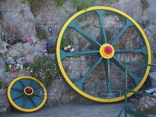 自転車の車輪の写真・画像素材[3850112]