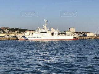 大洗港に停泊している海上保安庁の船ですの写真・画像素材[3892781]