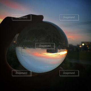 オレンジ ジュースのガラスの写真・画像素材[1160268]