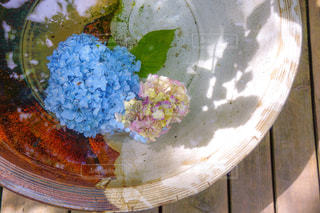 テーブルの上の食べ物の皿の写真・画像素材[2216335]