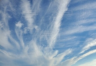 水が吹き出したような雲の写真・画像素材[3869475]