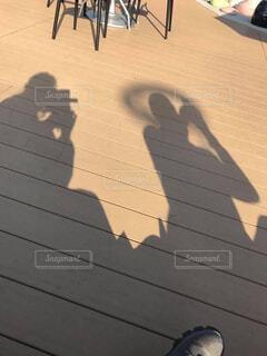 影をみたら面白かったのでの写真・画像素材[4256641]