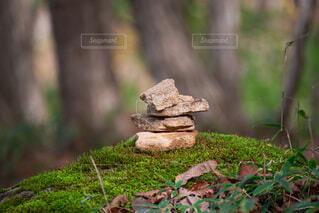 積み石の写真・画像素材[3872619]