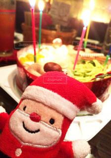 クリスマスのサンタのぬいぐるみの写真・画像素材[1364636]