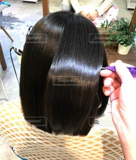 艶のある髪の写真の写真・画像素材[1702660]