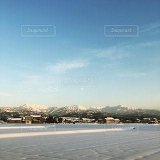 冬の立山連峰の写真・画像素材[1004380]