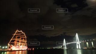 海王丸と新湊大橋の写真・画像素材[1556230]