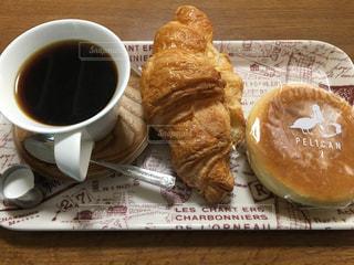 いつかの朝食(カフェ風)🥐🍞☕️の写真・画像素材[1047535]