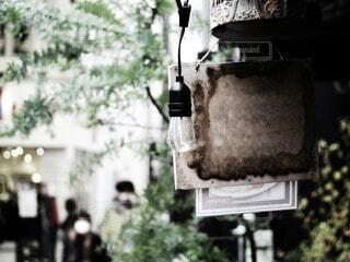 街角のランプの写真・画像素材[3911446]