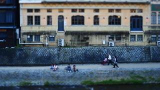 鴨川河川敷の風景の写真・画像素材[3919387]