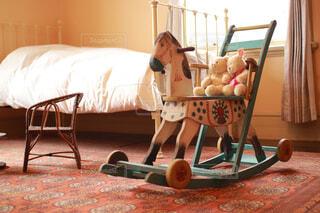 こども部屋の木馬の写真・画像素材[4288485]