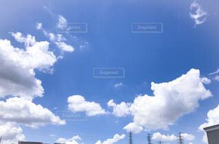 青空と雲の写真・画像素材[4576475]