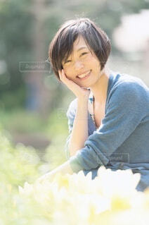 笑顔の女性の写真・画像素材[4045264]