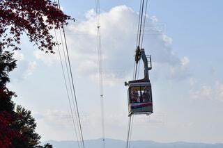 比叡山のロープウェイの写真・画像素材[3905447]