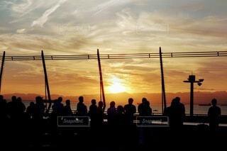 名古屋セントレアの夕陽の写真・画像素材[3921738]