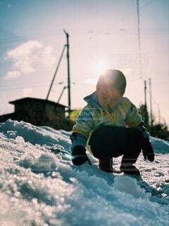 雪遊びの写真・画像素材[4078975]