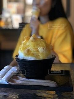 デートで食べたマンゴーかき氷の写真・画像素材[3392192]
